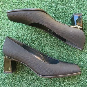 Stuart Weitzman Viclassy Cordine Heel Black 8